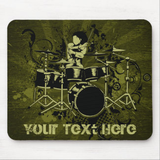 Abstract Vintage Drummer Mouse Pad
