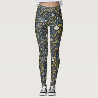 Abstract vintage pattern leggings