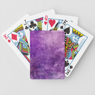 Abstract violet bicycle playing cards