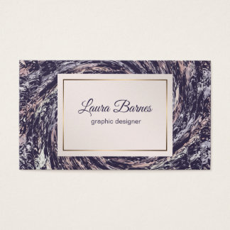 Abstract Violet Pink Spiral Business Card