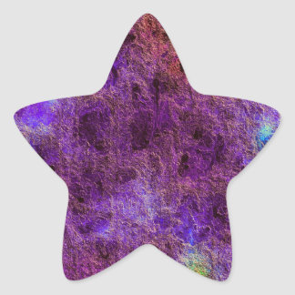 Abstract Violet Purple Star Stickers