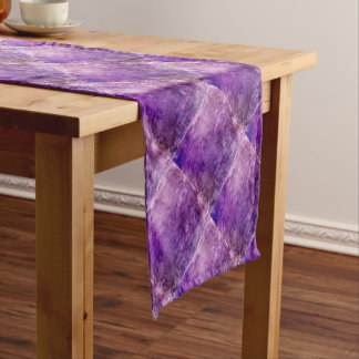 Abstract violet short table runner