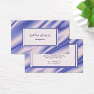 Abstract violet silk waves texture. business card
