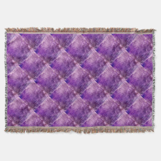 Abstract violet throw blanket