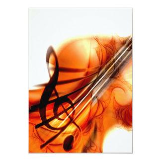"Abstract Violin Art 5"" X 7"" Invitation Card"