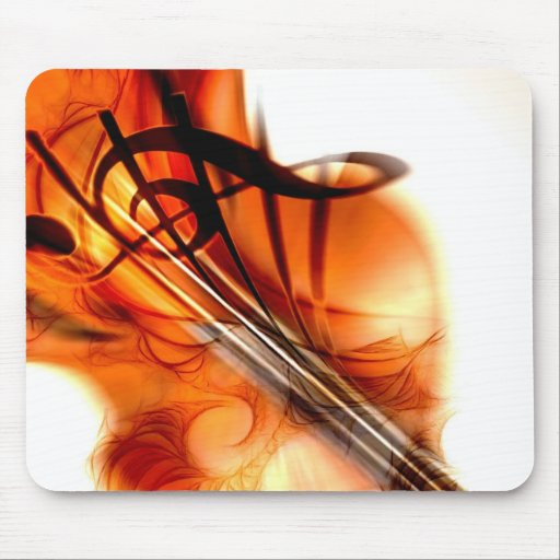Abstract Violin Art Mousepads