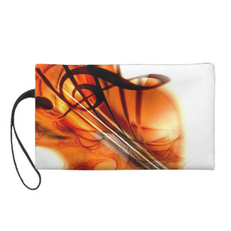 Abstract Violin Art Wristlet Purse