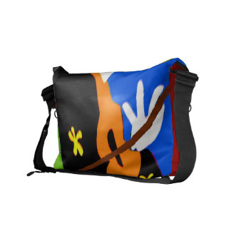 Abstract Violin Commuter Bags