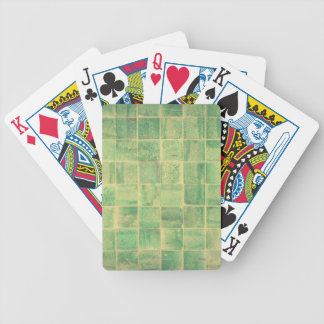 Abstract wall bicycle playing cards