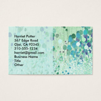 Abstract Wallpaper Fine Vintage Floral Business Card