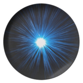 Abstract warp speed. plate