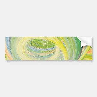 Abstract Washing Machine Rainbow Bumper Sticker