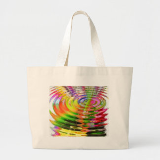 Abstract Water Color Ripples Canvas Bags