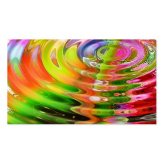 Abstract Water Color Ripples Business Cards