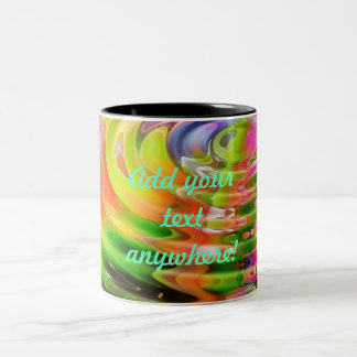 Abstract Water Color Ripples Coffee Mugs