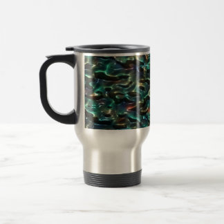 Abstract Water Droplets Particles. Gradient Effect Mug