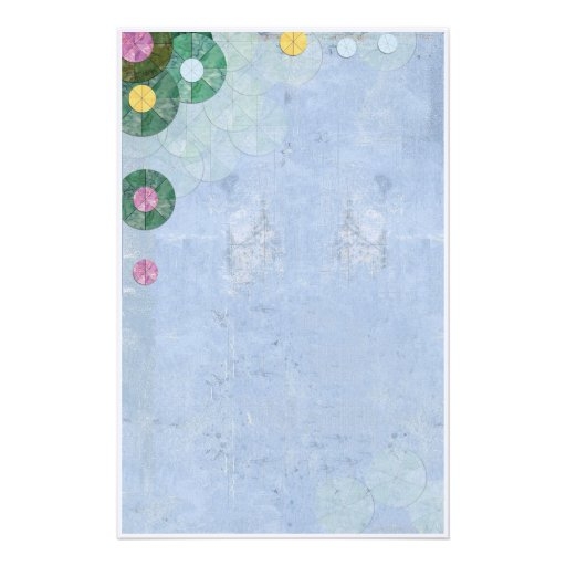 abstract water lilies stationery