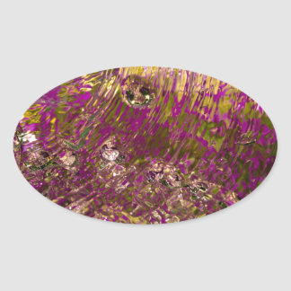 Abstract Water Photograph Oval Sticker