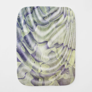 Abstract Water Ripples Baby Burp Cloth