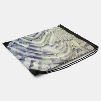 Abstract Water Ripples Drawstring Backpack