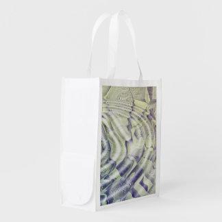 Abstract Water Ripples Reusable Bag