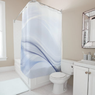 Abstract Water Waves Shower Curtain