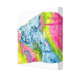 Abstract Watercolor Art Colorful Mountain Canvas Print