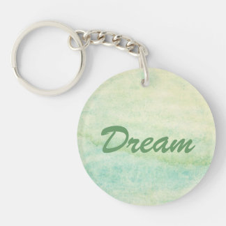 Abstract  watercolor background 2 Double-Sided round acrylic key ring