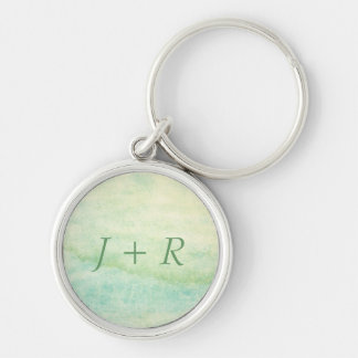 Abstract  watercolor background 2 Silver-Colored round key ring