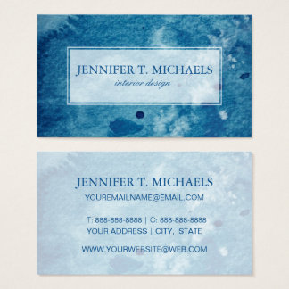 Abstract Watercolor Background Business Card