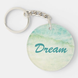 Abstract  watercolor background Double-Sided round acrylic key ring