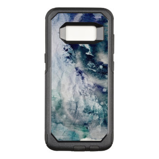 Abstract watercolor background on grunge paper 2 OtterBox commuter samsung galaxy s8 case