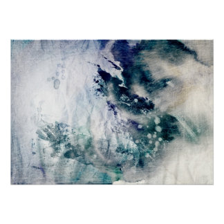 Abstract watercolor background on grunge paper 2 poster