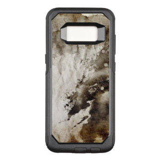 Abstract watercolor background on grunge paper OtterBox commuter samsung galaxy s8 case