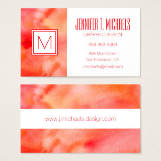 Abstract Watercolor Background - Orange Business Card