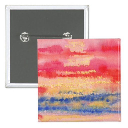 Abstract Watercolor Button