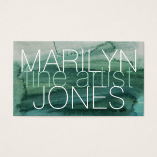 Abstract Watercolor Business Card for Fine Artists