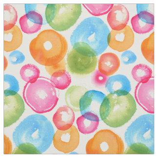 Abstract Watercolor Circles Fabric