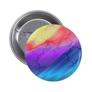 Abstract Watercolor Cracks Pinback Button