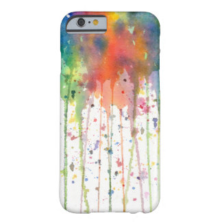 Abstract Watercolor Drippy Art Barely There iPhone 6 Case