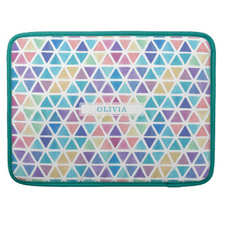 Abstract Watercolor Geometric (Coral Reef Tones) Sleeve For MacBook Pro