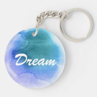 Abstract watercolor hand painted background 12 Double-Sided round acrylic key ring