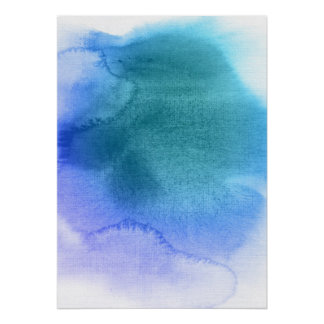 Abstract watercolor hand painted background 12 poster
