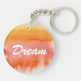 Abstract watercolor hand painted background 17 Double-Sided round acrylic key ring