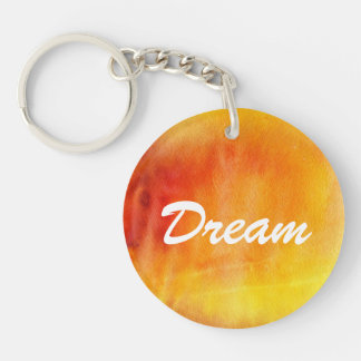 Abstract watercolor hand painted background 19 Double-Sided round acrylic key ring