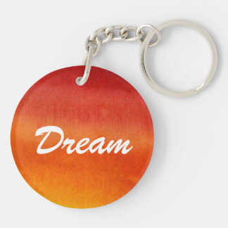Abstract watercolor hand painted background 5 Double-Sided round acrylic key ring