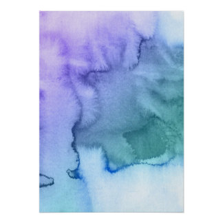 Abstract watercolor hand painted background 6 poster