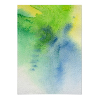 Abstract watercolor hand painted background 8 poster
