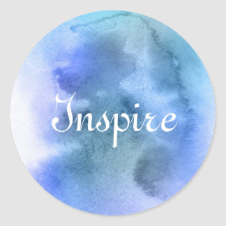 Abstract watercolor hand painted background 9 classic round sticker