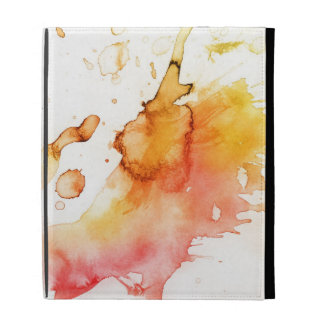 Abstract watercolor hand painted background iPad cases